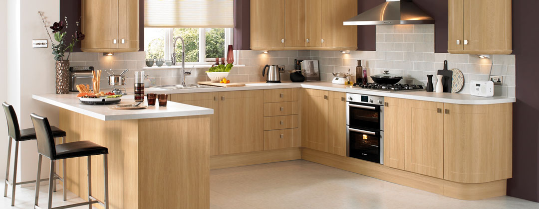 Burford Light Oak Modern Kitchen
