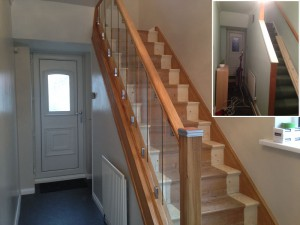 Oak and Glass Banisters in Dronfield