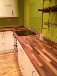 Walnut Worktop Fitted in Sheffield Kitchen